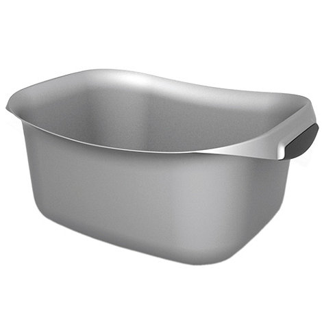 Curver - Silver curved square 10L washing up bowl