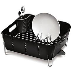 Simplehuman - Black compact dish rack