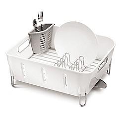 Simplehuman - White compact dish rack