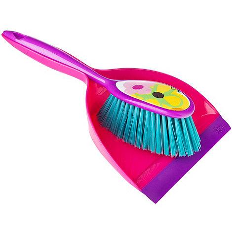 Eddingtons - Pink +Vigar+ dustpan and brush