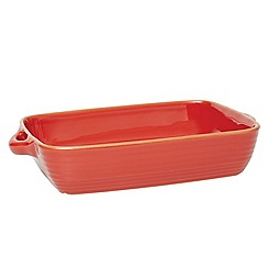 Jamie Oliver - Large terracotta baking dish in harbour rustic red
