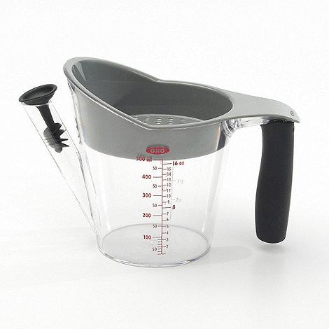 OXO - Heat resistant plastic +Good Grips+ 2 cup fat separator