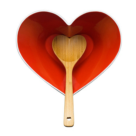Sagaform - Red heart bowl and ladle