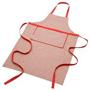 Red cotton apron