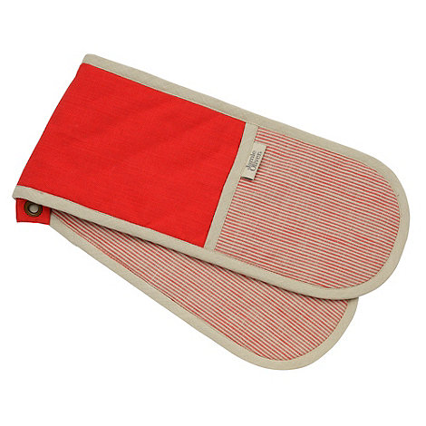 Jamie Oliver - Red cotton double oven glove