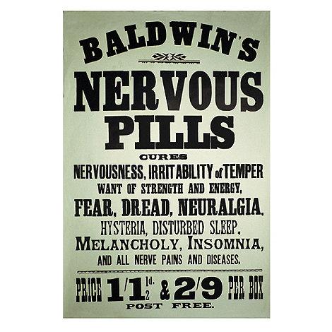 Half Moon Bay - Steel +Nervous Pills+ sign