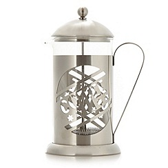Debenhams - Stainless steel 'Coffee' 8 cup cafetiere