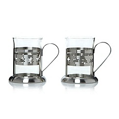 Debenhams - Set of two star glass mugs
