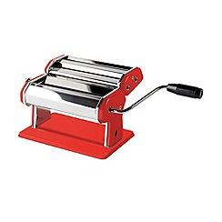 Jamie Oliver - Red stainless steel pasta machine