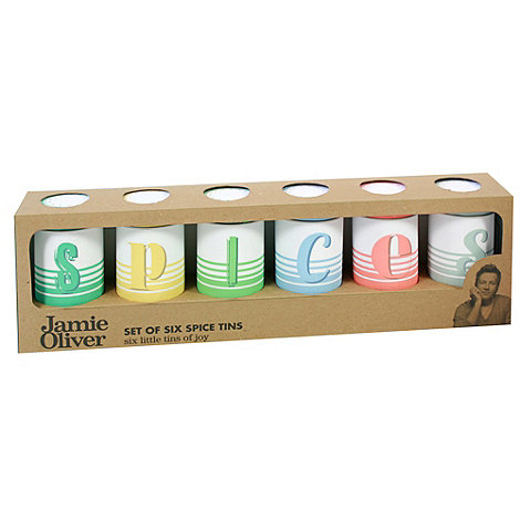 Jamie Oliver - Set of six spice tins