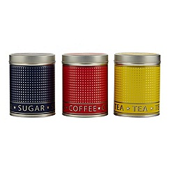 Debenhams - Set of three metal storage tins