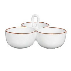 Debenhams - White ceramic dish trio