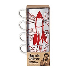 Jamie Oliver - Set of 4 stacking coffee cups