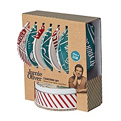 Jamie Oliver - Set of six tin coasters