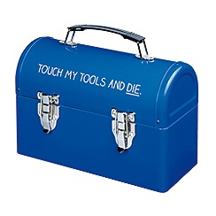 Happy Jackson - Blue 'Touch My Tools' tool box