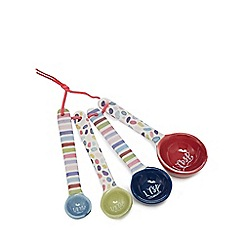 At home with Ashley Thomas - Set of four multi-coloured measuring spoons