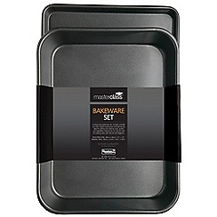 Masterclass - 2 piece black non-stick carbon steel bakeware set