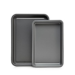 Home Collection Basics - Set of two steel non-stick mini oven trays