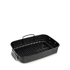 Home Collection - Heavy gauge steel non-stick roaster and rack