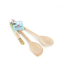 Tala - Set of three wooden spoons and brush