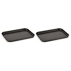 Home Collection - Set of two steel non-stick mini oven trays
