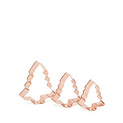 At home with Ashley Thomas - Bronze Christmas tree shaped cookie cutter