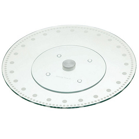 Kitchencraft - Glass +Sweetly Does It+ revolving cake stand