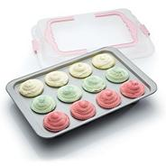 Kitchencraft steel 'Sweetly Does It' bake and carry cupcake tray