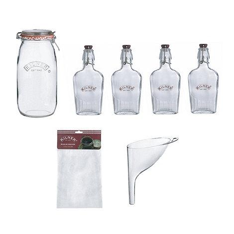 Kilner - Glass eight piece sloe gin set