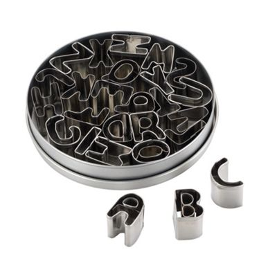 Cake Boss 26 piece mini alphabet cutters - . -