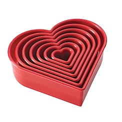 Cake Boss - 7 piece 'Heart' cutters