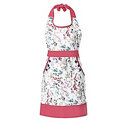 At home with Ashley Thomas - Multi-coloured floral print apron