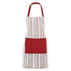 Home Collection - Red and black striped apron