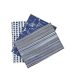 Home Collection - Set of three blue watercolour effect tea towels