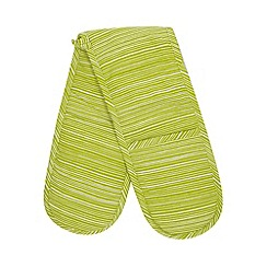 Home Collection Basics - Green striped oven gloves