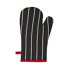 Debenhams - Red striped oven mitt