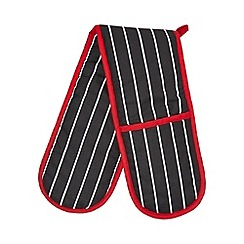 Debenhams - Red striped double oven gloves