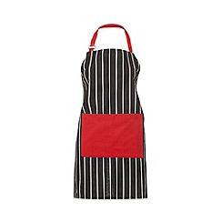 Debenhams - Red striped trim apron