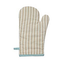 Debenhams - Turquoise striped oven mitt