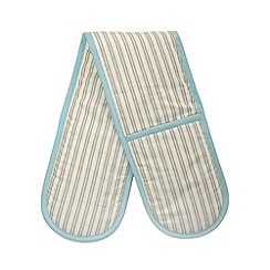 Debenhams - Turquoise striped double oven gloves