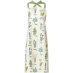 Debenhams - White botanical apron