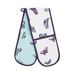 Debenhams - Aqua butterfly oven gloves