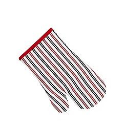 Debenhams - Red striped oven mitt