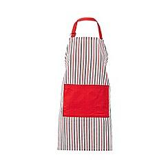 Debenhams - Red striped apron