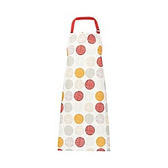 Home Collection Basics - Cream spotted apron