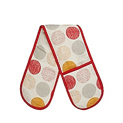 Home Collection Basics - Red spot print double oven glove