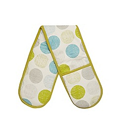 Home Collection Basics - Green spot print double oven glove