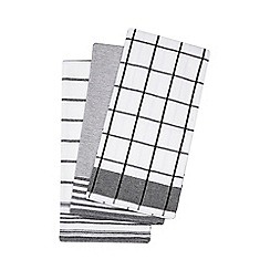 Home Collection - Set of three black tea towels