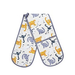 Debenhams - Multi-coloured cat print oven mitt