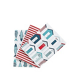 Debenhams - Set of three nautical tea towels